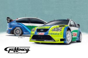 Colored Pencil Ford Focus by theGaffney