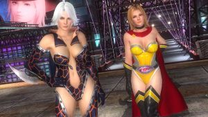 DOA5LR - Tina and Christie Fighter Force 03 by MomijiHayabusa