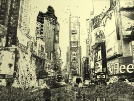 Post Apocalyptic: New York by believeinsketching