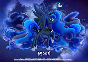 Equestria Elements serie - Princess Luna - Moon by Nekoi-Echizen