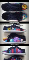 Adventure time fanart, custom hand painted shoes 2 by Beffana