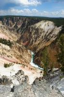 Yellowstone River Gorge by jayshree