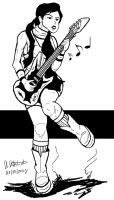 Guitar Girl :) by archaznable30