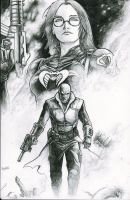 Destro and the Baroness by zackdolanart
