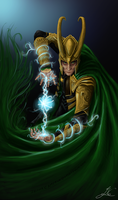 Loki - God of Mischief by Arcaneillusions