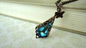 Bermuda Blue Pendant-Necklace by DayDream-Jewels