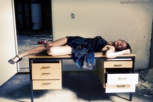 Sleeping at the desk by lakehurst-images