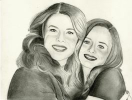 The Gilmore Girls (Graphite Drawing) by julesrizz
