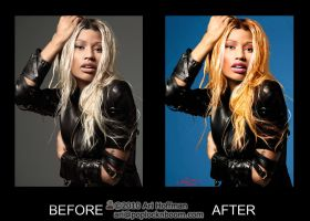 Nicki Minaj photo retouch by arihoff