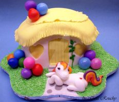 My little Pony Cake by ginas-cakes
