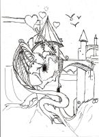 dragon ib love with a tower by Dragon-eyed-one