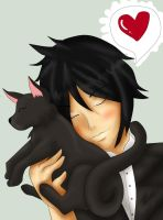 Sebastian Michaelis and Cat :3 by Line-arts