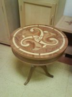 Side table with marquetry by mocorock