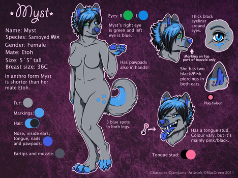 Anthro Myst ref sheet by JamJams