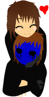 resquests: lucy black x eyeless jack by louisathehedgehog