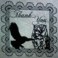 owl message card by Thessatoria