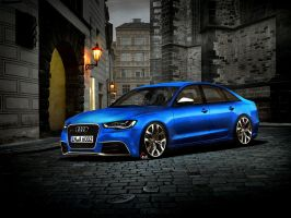 2012 Audi RS6 blue by EDL2 by EDLdesign