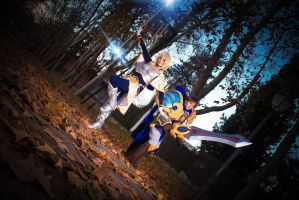 Lux and Garen - Ready to Fight! by NunnallyLol