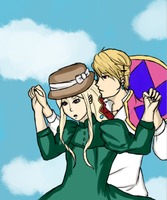Howl's Moving Castle- Hetalia crossover (Norbela) by Artsick-and-Awesome