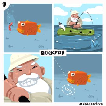 BrickFish1 by RomanOrLove