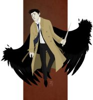Angel in a dirty trench coat by snowapples