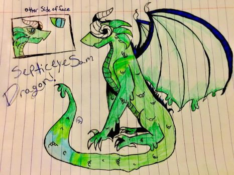 SepticeyeSam Dragon! by TokyoTeddyWolf