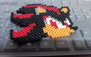 Perler Beads-Shadow the Hedgehog by bs-odile