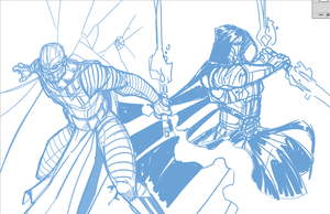 Darth Malak and Darth Revan WiP by Hodges-Art