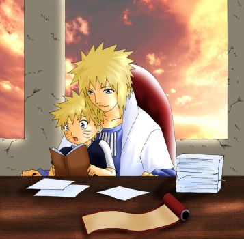 Naruto: at work with my dad by Feiuccia