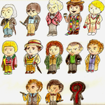 Chibi 12 Doctors by FiatVoluntasTau