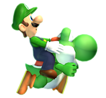 [Cinema 4D Render] Luigi and Yoshi by MaxiGamer