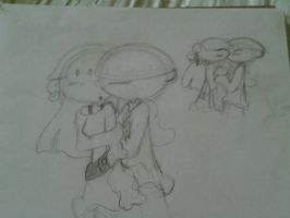 Wally and Kuki sketchies! by Curlytop13