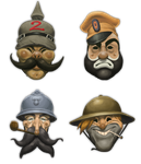 Propaganda-styled masks by AngusMcLeod