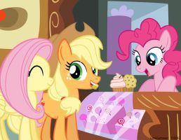 Muffin and a Cupcake, Two Bits by LateCustomer