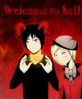 DamienXPip... Welcome to hell by Oyakiss