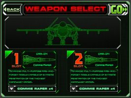 Weapon Select Menu Mockup by PrinzEugn