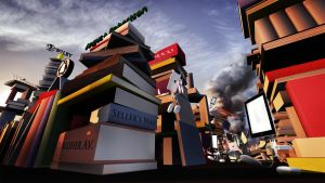 Trouble in Big Book City by JoshDykgraaf