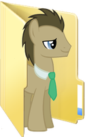 Custom Doctor Whooves folder icon by Blues27Xx