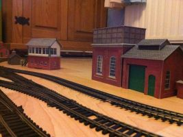 Card Kit, Signal Box + Water Tower and Sand Shed by Appletart-Longshot