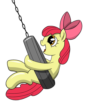 Apple Bloom's New Swing (Shaded) by Abion47