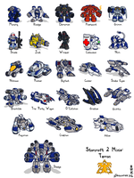 Starcraft II Minis: Terrans by Draguunthor