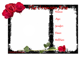 The Crimson Rose Character Application by Eisielae