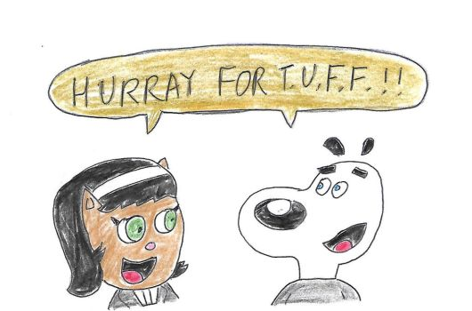 Kitty and Dudley - HURRAY FOR TUFF by dth1971