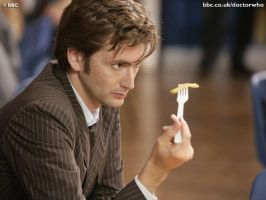 David Tennant staring at a chip by cullen1640