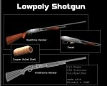Lowpoly Shotgun by Jimmyon