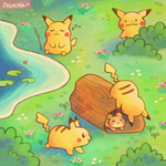 pikachu forest by Paleona