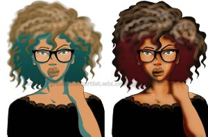 Curly Girl by VickiBeWicked
