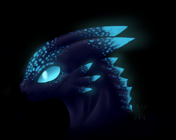 +Glow in the dark dragon+ by min-mew