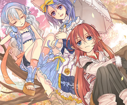 Rune Factory 3 - Autumn at Sharance Tree by yandere-shinai