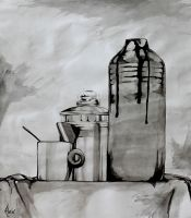 Inkwash Still Life by SweetDreamscapes